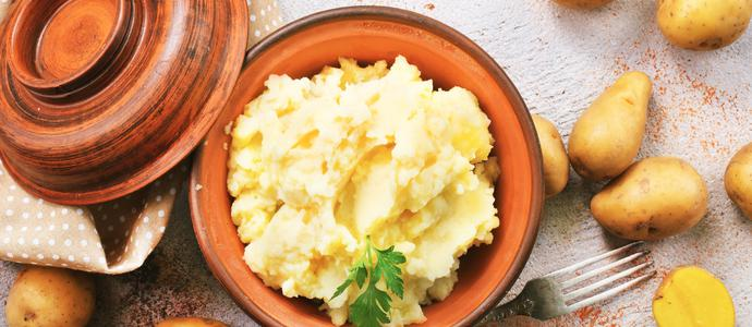 Ecrasé de pommes de terre à l'ail et au persil