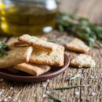 Sablés parmesan et romarin