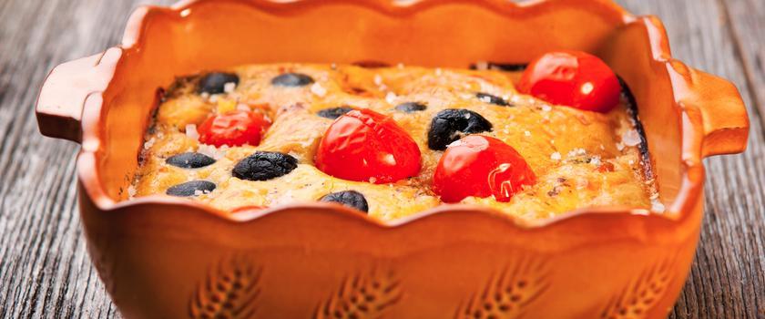 Clafoutis tomates-cerises
